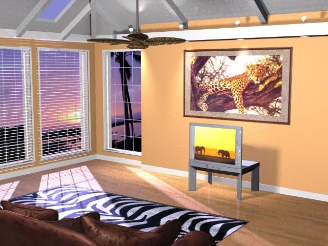 room tropical 3d model
