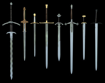 3d model swords flamberge bastard