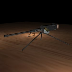 3d model 50 m browning machine gun