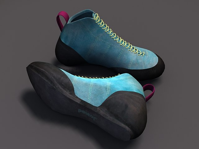 3ds max climbing shoe