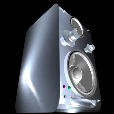 soundtower 3d model