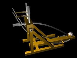 3d model historic trebuchet