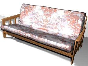 3d model of bed futon couch