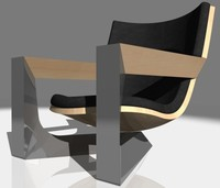 triangle chair design 3d max