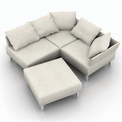 3d dxf sofa