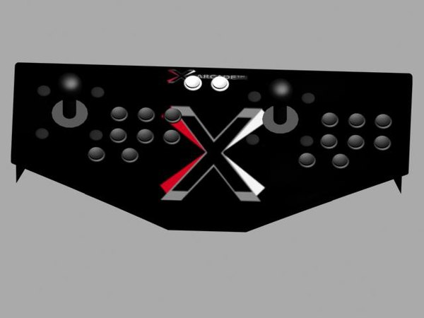 3d x-arcade controller pad model