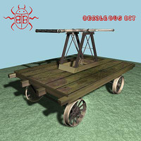 railroad hand cart 3d model