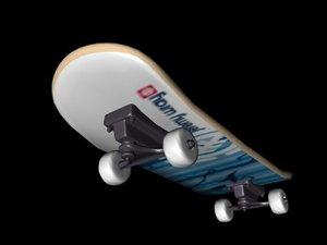 3d model element skateboard