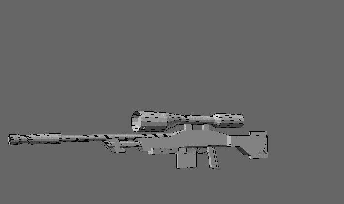 3ds max rifle weapon s