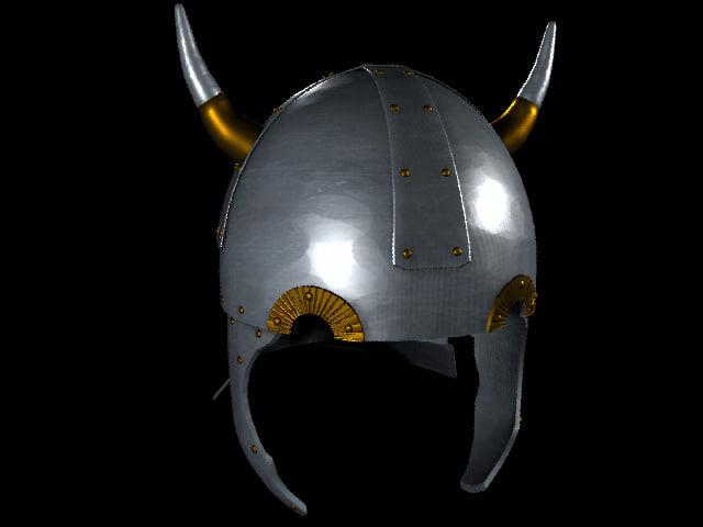 3d viking horned helmet