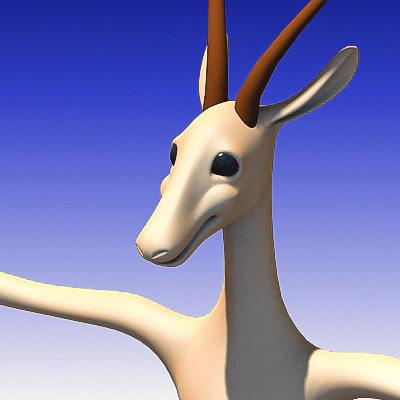 gazelle character 3d max