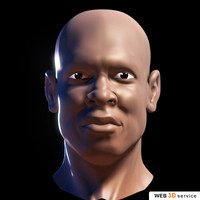 african male head 3d max