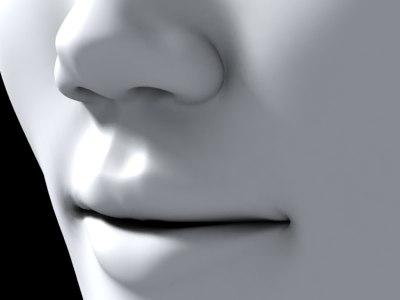female head 3d max