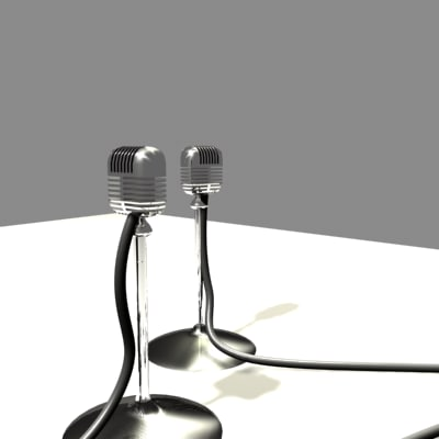mics stand 3d max