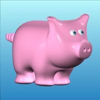 3d cartoon pig model