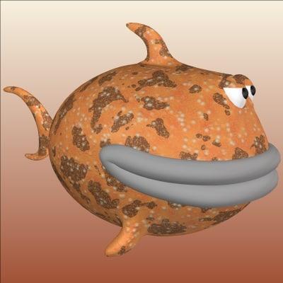 cartoon fish 3d model