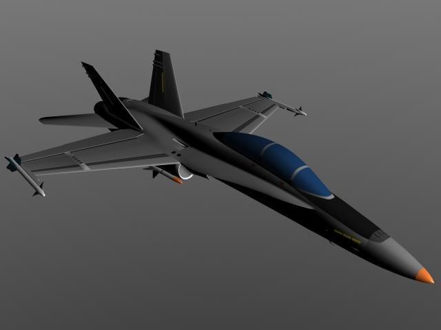 3d aircraft f-18