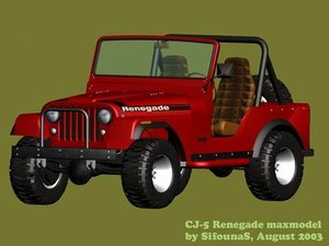3d renegade jeep model