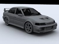 lancer evolution 3d model
