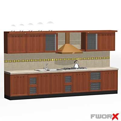 cabinet stove sink 3d model