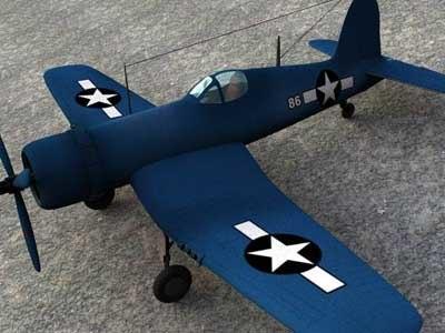 f4u corsair plane 3d model