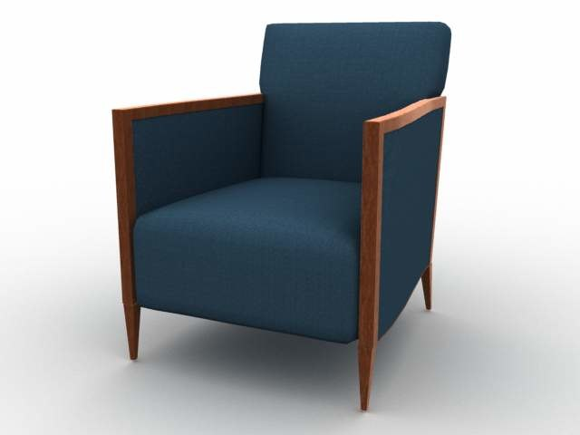 armchair chair furniture 3d model