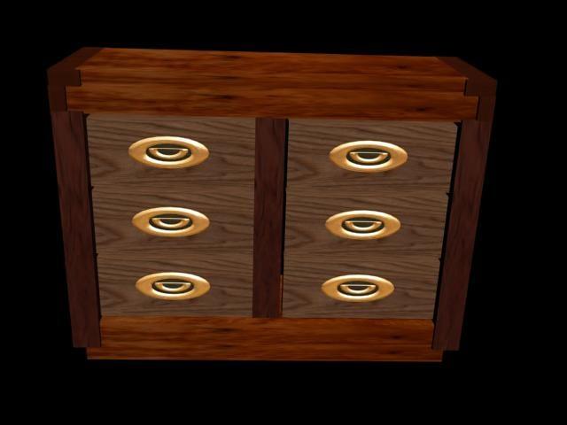 3ds max dresser drawers