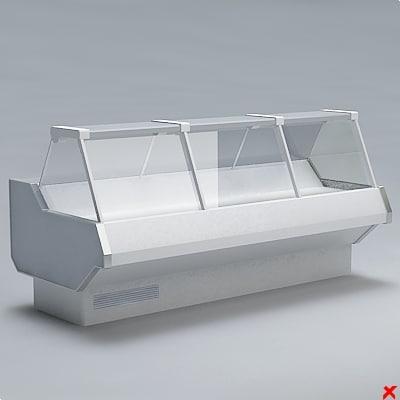 3d model counter refrigerator