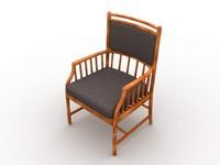 chair furniture 3d lwo