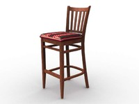 3d model of chair furniture