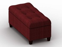 furniture ottoman 3d lwo