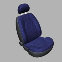 3ds max car seat