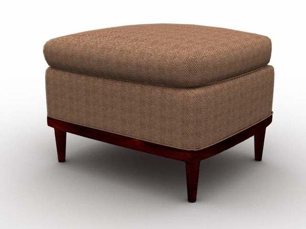 3d stool furniture ottoman model