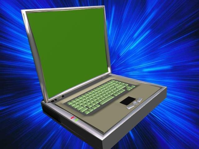 deskbook laptop 3d model