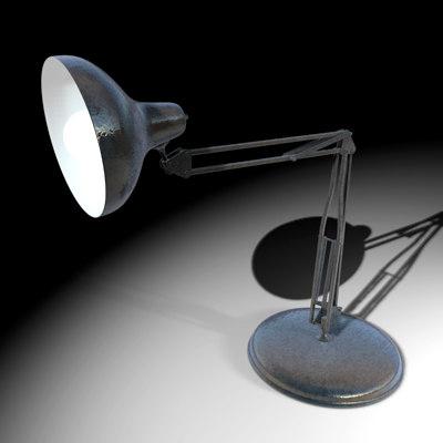 3d model of desklamp bulb power