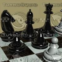 classic chessboard board 3d model