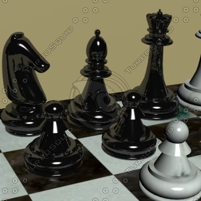 classic chessboard board 3d model