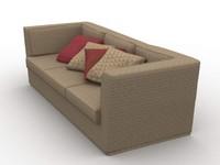 saratoga sofa 3d model