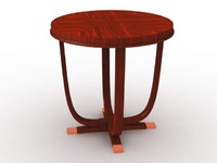 3d model of roundside table