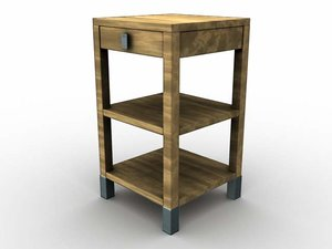 donghia nightstand 3d model