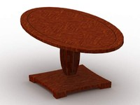 madison table dining 3d model
