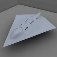 3d model of x-47a pegasus ucav