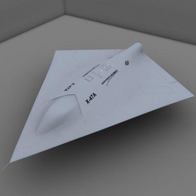 3d model of x-47a pegasus ucav