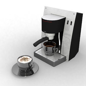coffee cappucino machine 3d model