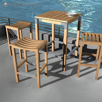 3d model deck furniture