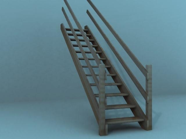 free obj model stairs