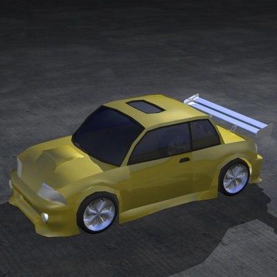 3d model street r car