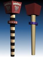 3d model of tap handle