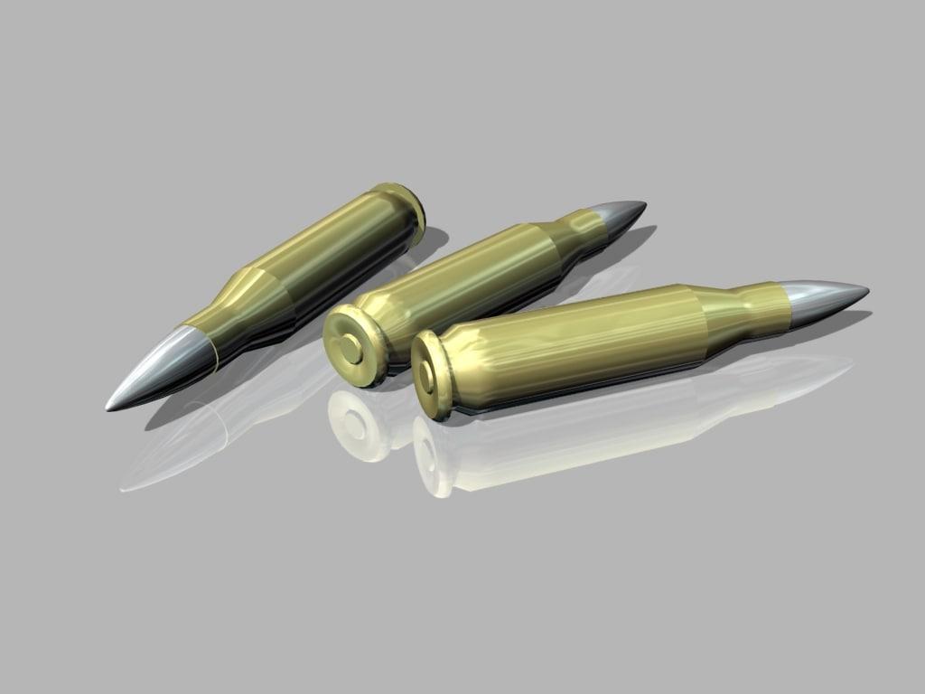 hard bullets 3d model