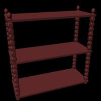 3d 3ds bookshelves shelves